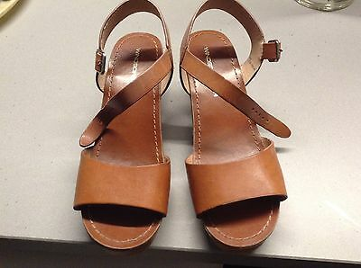 Ladies Size 8b Tan Windsor Smith Leather Sandals