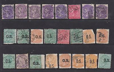Small selection of South Australia SA Perferations & O.S stamps