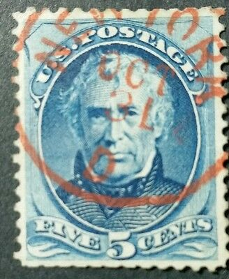 "U.s.a.1875. #179.5C.blue. ""red New York"" Cancel Used."
