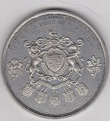 1897 Victorian Exhibition White Metal Medal In Near Mint Condition