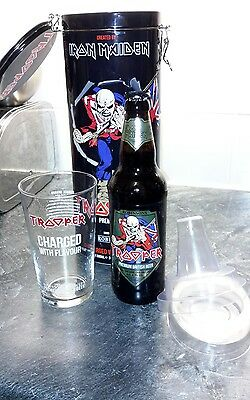 Iron Maiden Trooper Beer & Glass collectors tin, 2017. ideal gift like cd vinyl