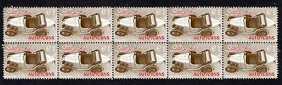 Austin 7, Auto Icons Strip Of 10 Mint Stamps 1