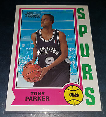 Tony Parker 2001-02 Topps Heritage Rookie Card (no.205)
