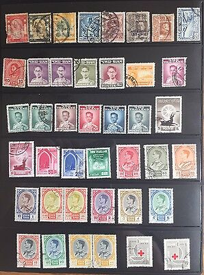 Thailand 155 Stamps Collection Used (1)