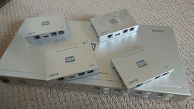 HDAnywhere 4x4 HDMI - HDBaseT Matrix - PoE/PoH with 4x receivers