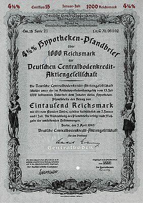 Deutsche Centralbodenkredit AG Berlin Bank Anleihe Pfandbrief 1940