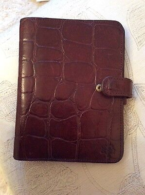 Mulberry Congo Chocolate Brown Leather A5 Filofax / Organiser