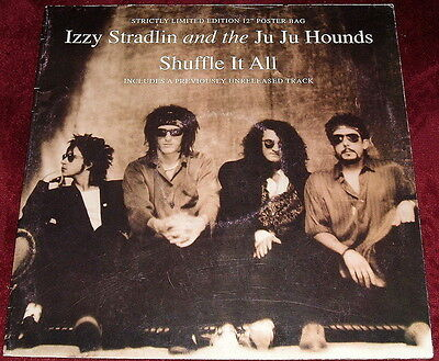 "Izzy Stradlin & The Ju Ju Hounds..shuffle It All..12"" Single Ex+ 1992 Poster Bag"