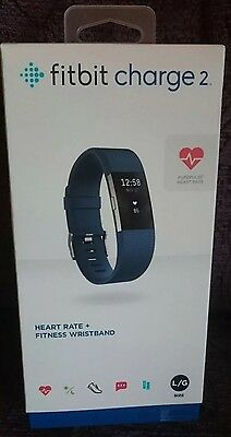 Fitbit Charge 2 Brand New And Boxed Blue Large