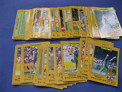 Scanlens 1986 The Clashes For The Ashes Cricket Cards Incomplete