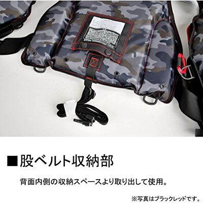 Daiwa Float Game life vest black red Free DF-6206 from JAPAN F/S New!