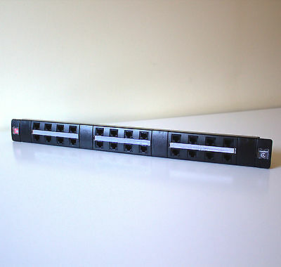 ADC KRONE 24 Port CAT-6 RJ45 Patch Panel TRUNET C6 6450 1 184-24 1U Network Data