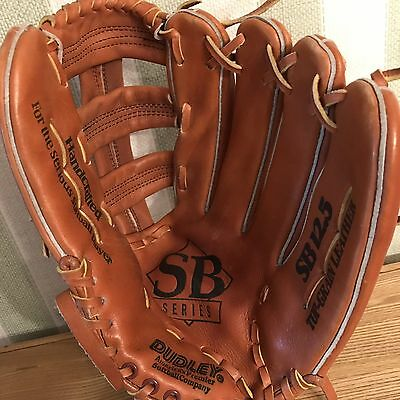 Dudley Sb Series Softball Glove 12.5 Handcrafted Top Grain Leather Used In Army