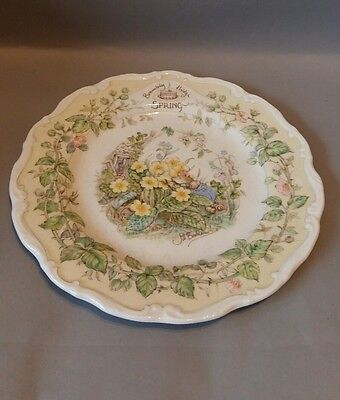 Royal Doulton Brambly Hedge Four Seasons Plate Set Spring,Summer,Autumn, Winter