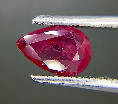 1.07 Ct Certified Natural Ruby  Vvs Unheated Untreated  Red Color