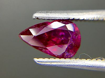 1.09 Ct Certified Natural Ruby  Vvs Unheated Untreated  Red Color