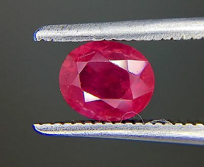 1.05 Ct Certified Natural Ruby  Vvs Unheated Untreated  Red Color
