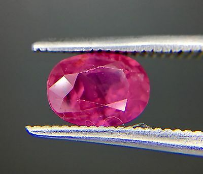 1.46 Ct Certified Natural Ruby  Vvs Unheated Untreated  Red Color
