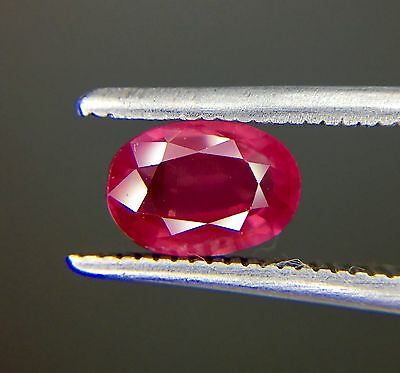 1.18 Ct Certified Natural Ruby  Vvs Unheated Untreated  Red Color