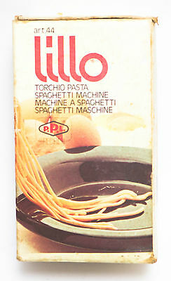 Vintage Torchio Red Pasta Maker Press Hand Crank Spaghetti Machine Lillo Pedrini