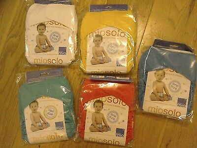 5 x bambino mio solo all-in-one reusable nappies NEW