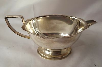silver plated sauce boat