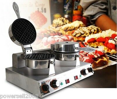 2400W Lattice Thicken Commercial Non Stick Plates Waffle Maker Stainless Steel