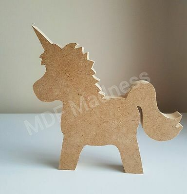 Wooden Craft Shape. Mdf Unicorn. 18Mm Free Standing.