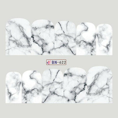 Nail Art Decals Transfers Stickers Marble Effect (DB622)