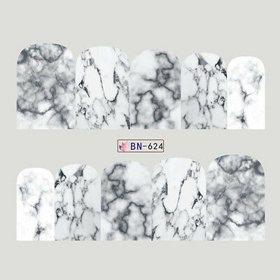 Nail Art Decals Transfers Stickers Stunning Marble Effect (DB624)