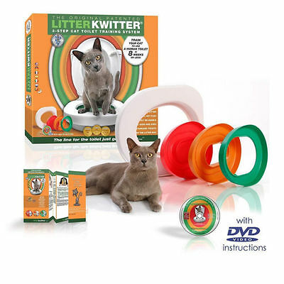 Litter Kwitter Cat Toilet Training System With Instructional DVD Litter Tray New
