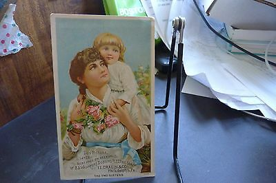 "Dobbins' Electric Soap Trade Card ""the Two Sisters"""