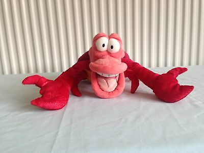 Disney Store Original Sebastian From The Little Mermaid Plush,Approx 13 Inches