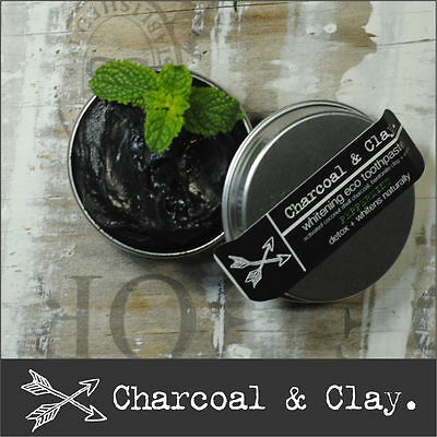 >> 45g CHARCOAL TOOTHPASTE Natural whitening  Organic OZ made 100% natural