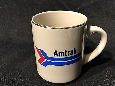 Vintage - Amtrak Train - Coffee Mug white gold trim