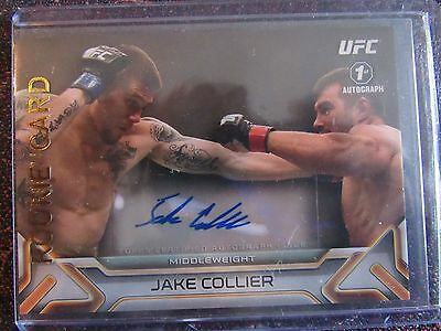 Jake Collier 1st Auto UFC 2016 Knockout. Topps UFC. 4 in Stock. /249 Rookie Card