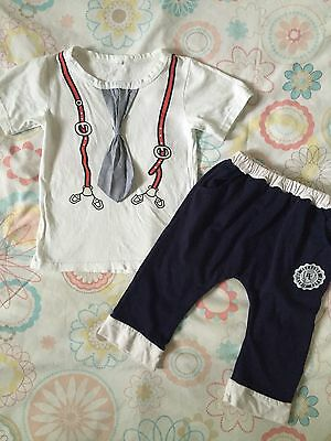 Beautiful Boys Smart Summer Outfit/ Set!! 4-5 Years Shorts & Tshirt