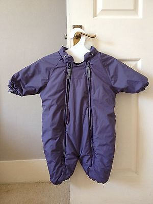 Ver de Terre winter snow suit Thermolite jacket purple girl baby size 6 mths NWT