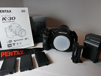 PENTAX Pentax K-30 Digital Camera - Black (Body Only) - Low Shutter Count