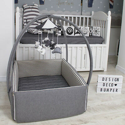 """DesingDeco Bumper  Baby Bed Crib Size W34"""" L42"""" Various designs FREE SHIPPING."""