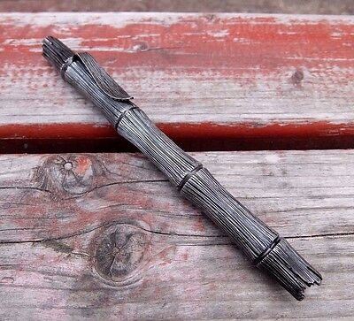 "Custom tactical pen-kubotan ""Dark Bamboo"", made of titanium!! handmade!"