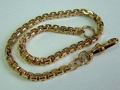 Solid 9Ct Yellow Gold  Faceted Square Belcher Link Bracelet - 7.75 Inches