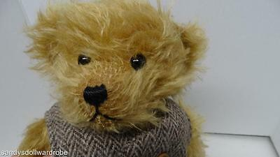 """Hermann 15"""" Bear Red Tag Cloth Tag D96112 With Vest"""