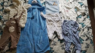 BABY CLOTHES SET ( 2 blankets) BOYS GIRLS 0-3 MONTHS BIG M&S F&F NEXT