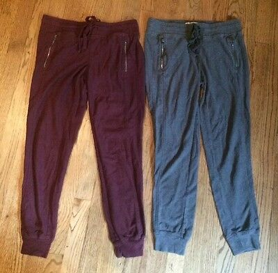 Lot Women's So Capris Crop Jogging Pants Cotton Pockets Gray Maroon EUC S