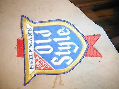 Heilemans Genuine Old Style Beer Distributor Cloth Patch Large