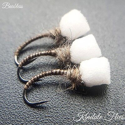 Natural Quill Suspender Buzzer Size 12 (Set of 3) Fly Fishing Flies  Barbless