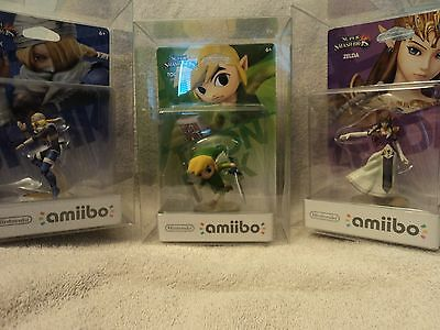 2 Box Protectors For NINTENDO AMIIBO Original Size Only! Clear Display Cases