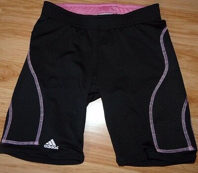 girls Adidas climalite athletic black sliders compression shorts size YL large