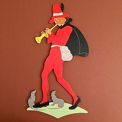 🍄510: Early Mertens-Kunst ~1950 Pied Piper Of Hamelin 🍀 Very Rare Hand-Painted